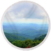 Blue Ridge Parkway Overlook Round Beach Towel