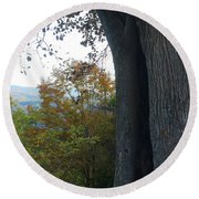 Blue Ridge Parkway Tree Round Beach Towel