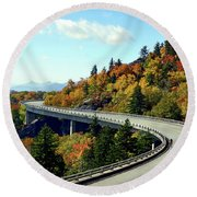 Blue Ridge Parkway Viaduct Round Beach Towel