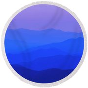 Blue Ridge Spring 08 Round Beach Towel