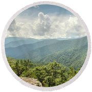 Blue Ridge View Round Beach Towel
