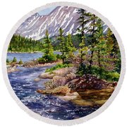 Blue River Round Beach Towel
