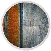 Blue Rust Round Beach Towel