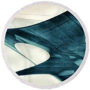 Blue Sails Round Beach Towel