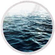 Blue Sea Round Beach Towel