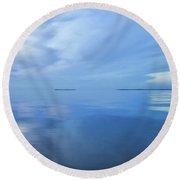 Blue Serenity Round Beach Towel
