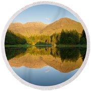 Blue Skies At Torren Lochan Round Beach Towel