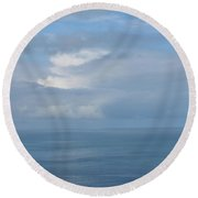 Blue Skies Round Beach Towel by JoAnn Lense