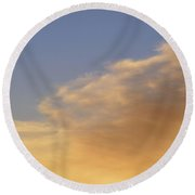 Blue Sky And Clouds Two  Round Beach Towel by Lyle Crump