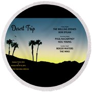 Blue Sky Sunset From A Desert Trip Round Beach Towel by Desiderata Gallery