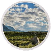 Blue Sky Monmouth  Round Beach Towel