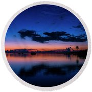 Blue Sky Night Round Beach Towel
