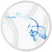 Blue Smoke Round Beach Towel