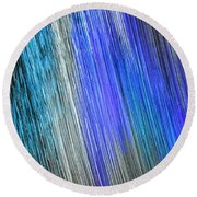 Blue Streak Round Beach Towel