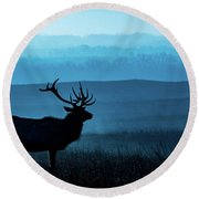 Blue Sunrise Round Beach Towel