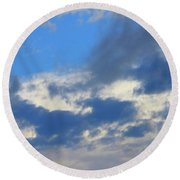 Blue Two Round Beach Towel