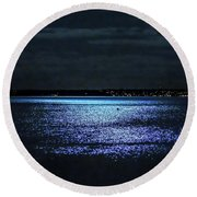 Blue Velvet Round Beach Towel
