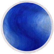 Blue Vibration Round Beach Towel