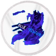 Blue Vision Round Beach Towel