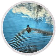 Blue Waters #g0 Round Beach Towel by Leif Sohlman