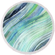 Blue Wave Abstract Art For Interior Decor V Round Beach Towel