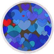 Blue Without You Round Beach Towel