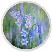 Bluebell Haze Round Beach Towel