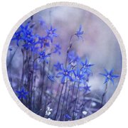Bluebell Heaven Round Beach Towel