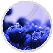 Blueberry Bubbles Round Beach Towel