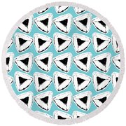 Round Beach Towel featuring the mixed media Blueberry Hamentashen- Art By Linda Woods by Linda Woods