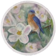 Bluebird Vignette Round Beach Towel