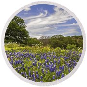Bluebonnet Spring Round Beach Towel by Lynn Bauer