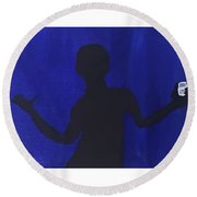 Blued Round Beach Towel