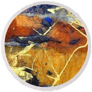 Bluegold 1 Round Beach Towel by Gail Butters Cohen