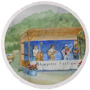 Bluegrass Festival Round Beach Towel