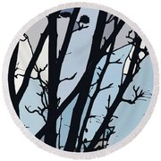 Blues, Barely Spring -  Round Beach Towel