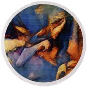 Blues In The Night Round Beach Towel