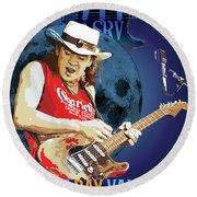 Bluesman Round Beach Towel by Gary Grayson