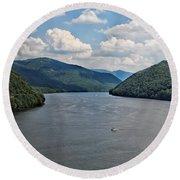 Bluestone Lake - Hinton West Virginia Round Beach Towel