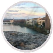Blurred Verona Round Beach Towel