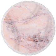 Blush Marble Round Beach Towel