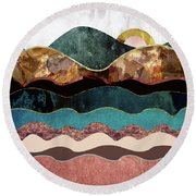 Blush Moon Round Beach Towel