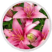 Blush Of The Blossoms Round Beach Towel