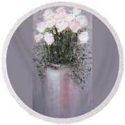 Blush - Original Artwork Round Beach Towel