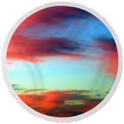 Blushed Sky Round Beach Towel