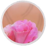 Round Beach Towel featuring the photograph Blushing Rose by Cindy Garber Iverson
