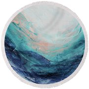 Blushing Sky Round Beach Towel