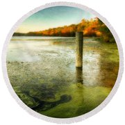 Blydenberg Park In The Fall Round Beach Towel