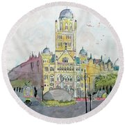 Bmc Mumbai Round Beach Towel