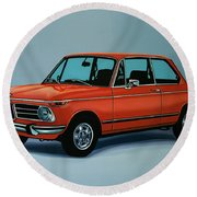 Bmw 2002 1968 Painting Round Beach Towel